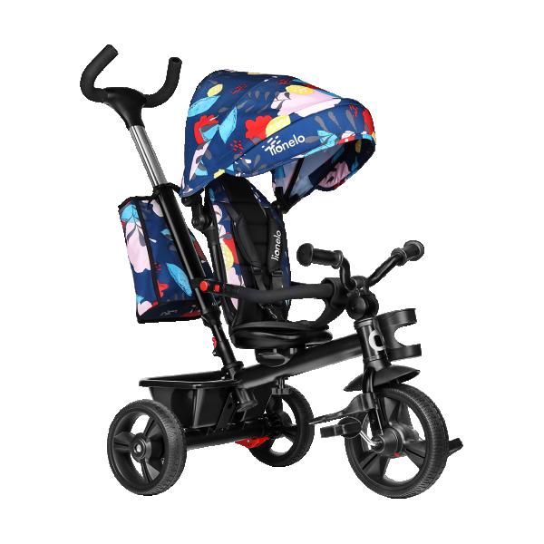 LIONELO tricikl guralica za decu HAARI Plavi sa motivima