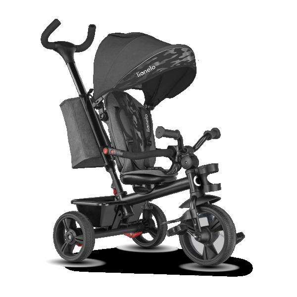 LIONELO tricikl guralica za decu HAARI Sivi
