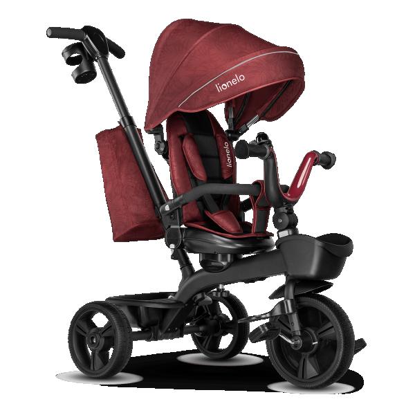 LIONELO tricikl guralica za decu KORI Bordo
