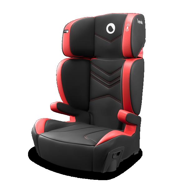 LIONELO auto sedište za decu 15-36kg HUGO 2u1 Crveno - Crno
