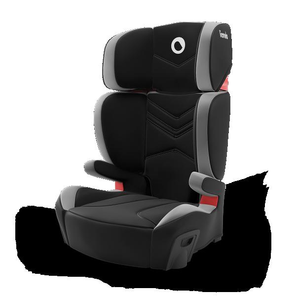 LIONELO auto sedište za decu 15-36kg HUGO 2u1 Sivo - Crno