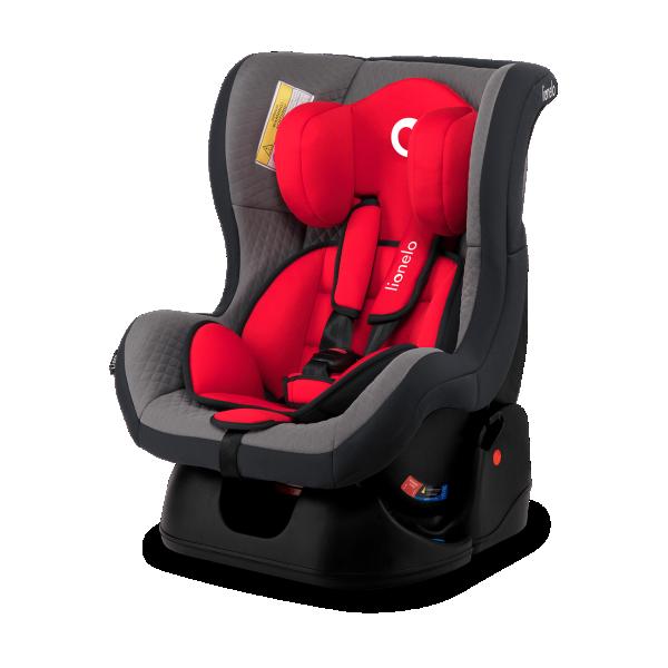 LIONELO auto sedište za decu 0-18kg LIAM Crveno - Sivo