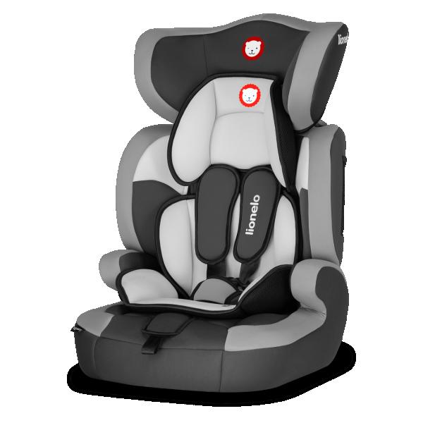LIONELO auto sedište za decu 9-36kg LEVI ONE 2u1 Sivo