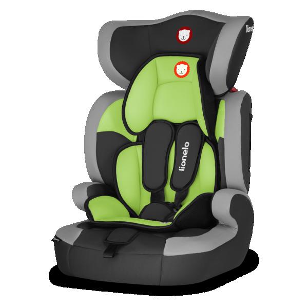 LIONELO auto sedište za decu 9-36kg LEVI ONE 2u1 Zeleno Lime