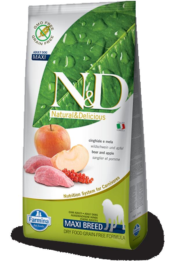 N&D Prime Maxi Adult Boar&Apple 12kg