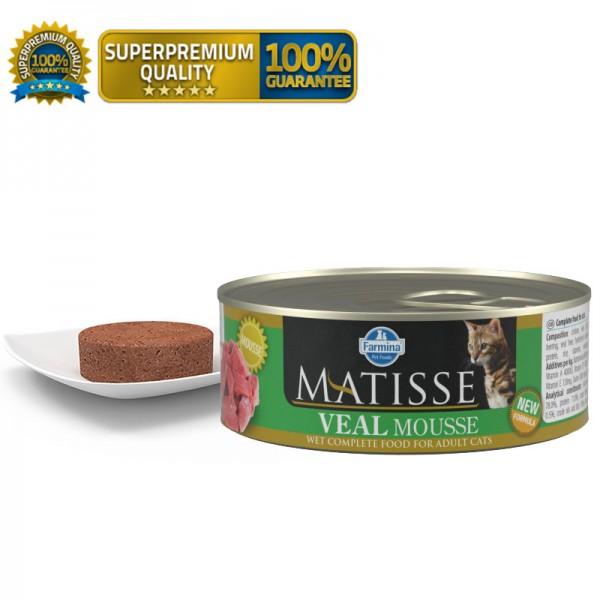 Matisse Vlažna hrana Cat Mousse Veal 85g