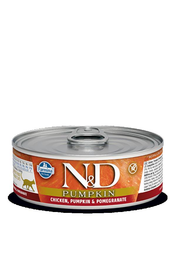 N&D Vlažna hrana konzerva Cat Pumpkin Chicken&Pumpkin&Pomegranate 80g
