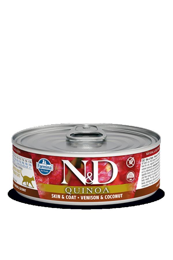 N&D Vlažna hrana konzerva Cat Quinoa Venison&Coconut 80g