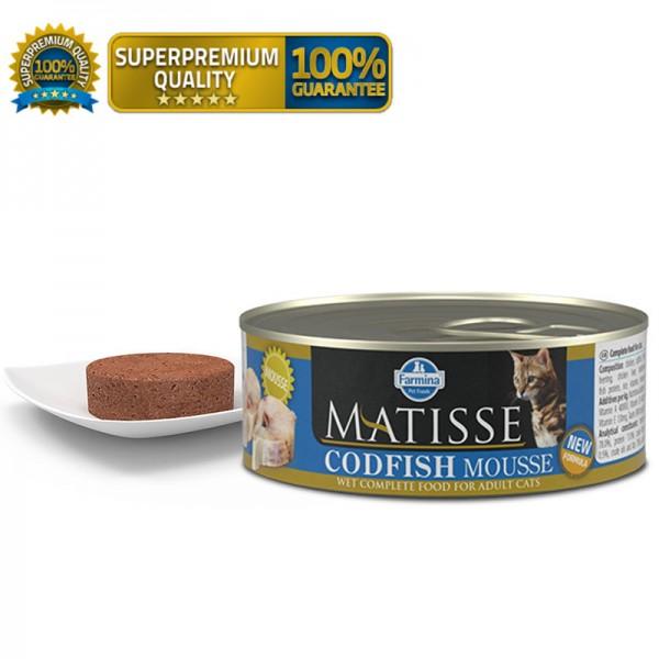 Matisse Vlažna hrana Cat Mousse Codfish 85g