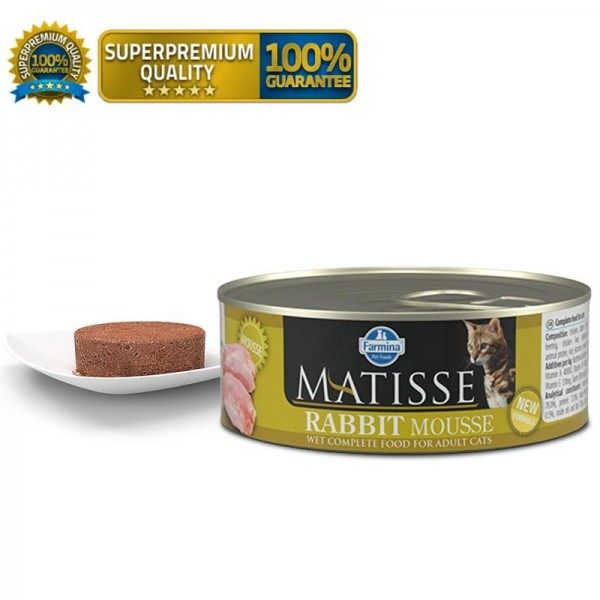 Matisse Vlažna hrana Cat Mousse Rabbit 85g