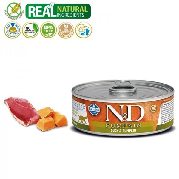 N&D Vlažna hrana konzerva Cat Pumpkin Duck&Pumpkin 80g