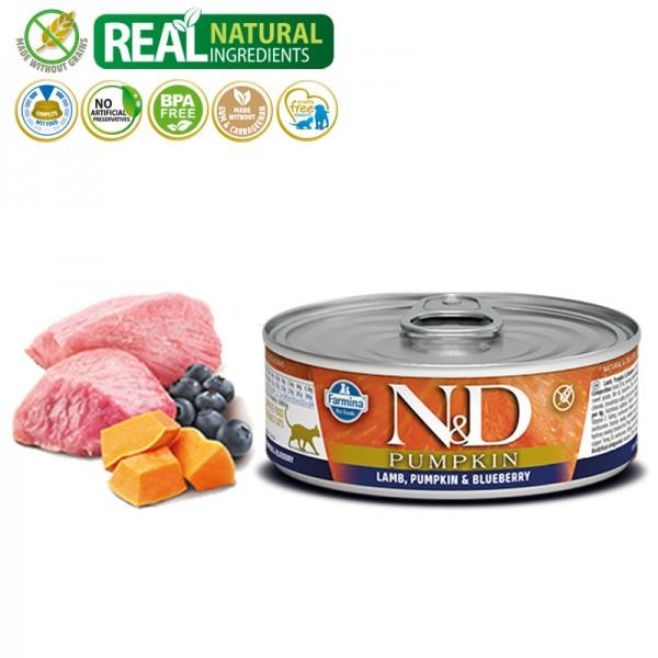 N&D Vlažna hrana konzerva Cat Pumpkin Lamb&Pumpkin&Blueberry 80g