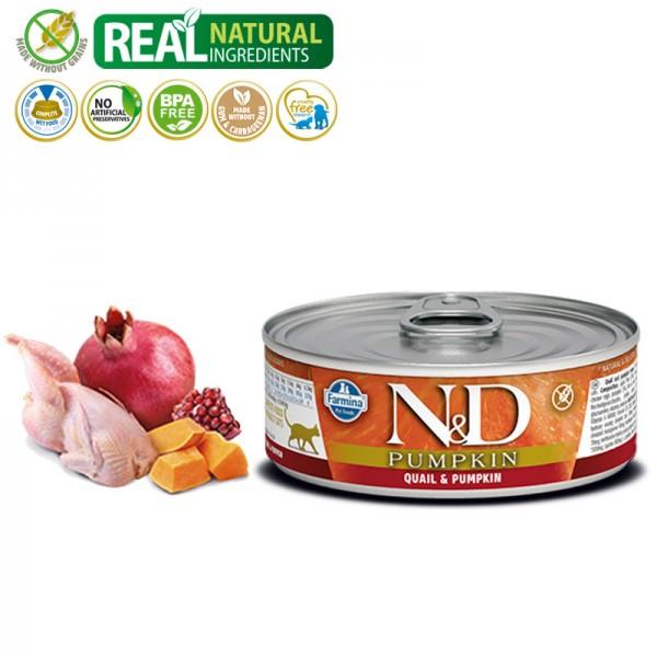 N&D Vlažna hrana konzerva Cat Pumpkin Quail&Pumpkin 80g