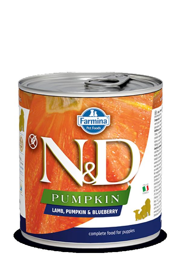 N&D Vlažna hrana konzerva Dog Pumpkin Puppy Lamb&Pumpkin&Blueberry 285g