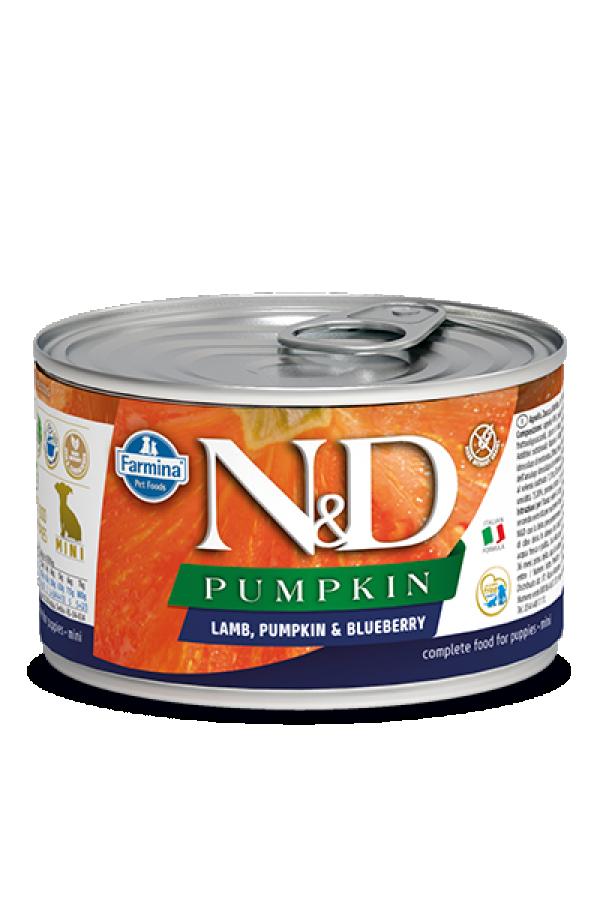 N&D Vlažna hrana konzerva Dog Pumpkin Puppy Mini Lamb&Pumpkin&Blueberry 140g