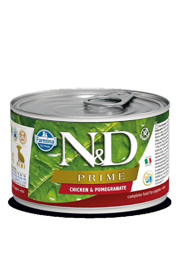 N&D Vlažna hrana konzerva Dog Grain Free Puppy Mini Chicken&Pomegranate 140g