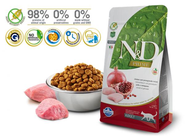 N&D Prime Cat Suva hrana Chicken&Pomegranatee 300g