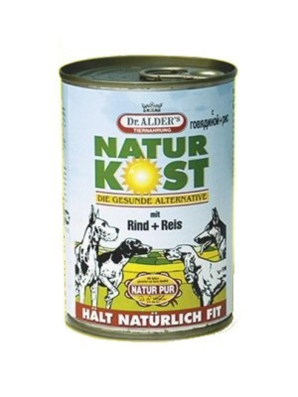 Natur kost Vlažna hrana govedina/pirinač 400g