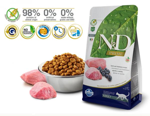 N&D Prime Cat Suva hrana Lamb&Blueberry 300g