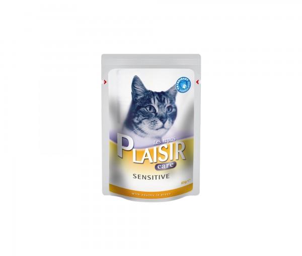 Plaisir Care Vlažna hrana preliv za mačke Sensitive 85g