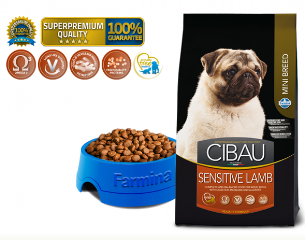 Cibau Suva hrana Superpremium Lamb Sensitive Mini 800g