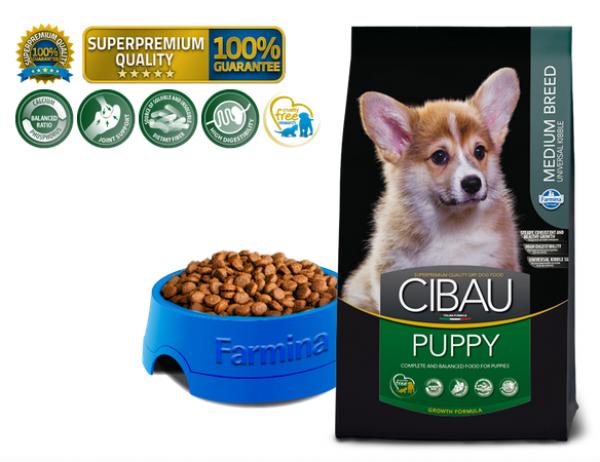 Cibau Suva hrana Superpremium Puppy Medium Formula 800g
