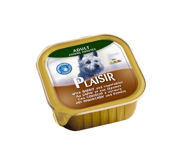 Plaisir pašteta Vlažna hrana za pse zečetina i povrće 300g