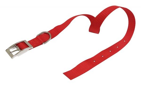 Ogrlica za pse najlon 16*350 crvena