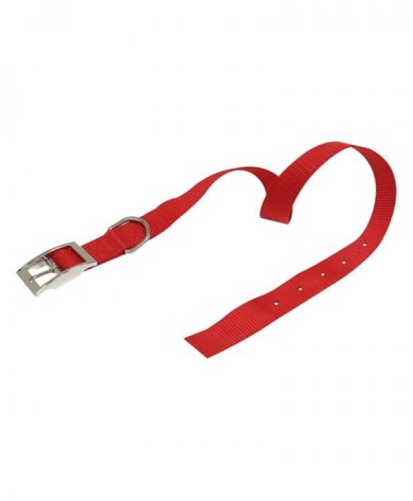 Ogrlica za pse najlon 16*400 crvena