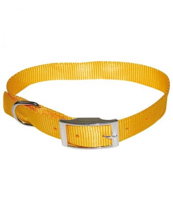 Ogrlica za pse najlon 16*400 zuta