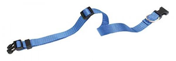 Ogrlica za pse najlon 21/28*10 plava