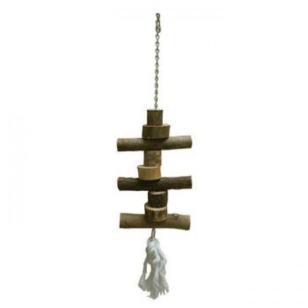 Igračka za ptice drvena viseća 48 cm