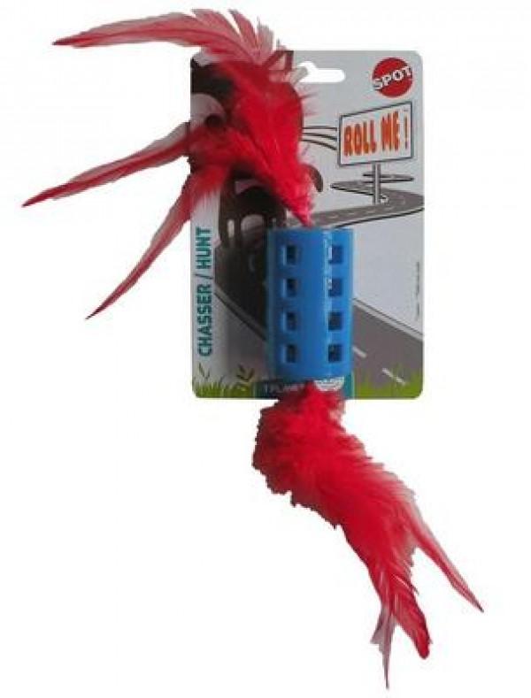 Igračka za mačke zvono sa perjem