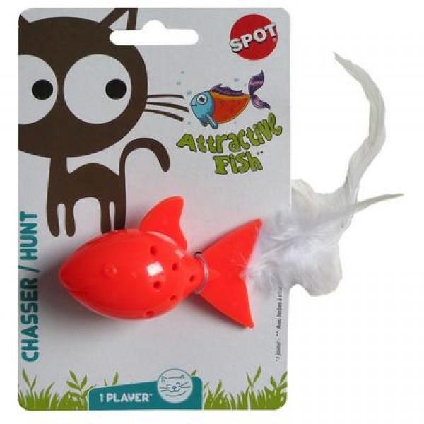 Igračka plastična riba sa mačjom travom I zvonom