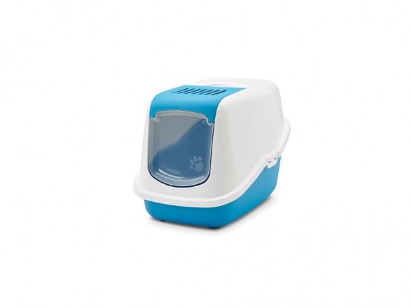 SAVIC Toalet za mace Nestor plavo-beli 56x39x38.5cm