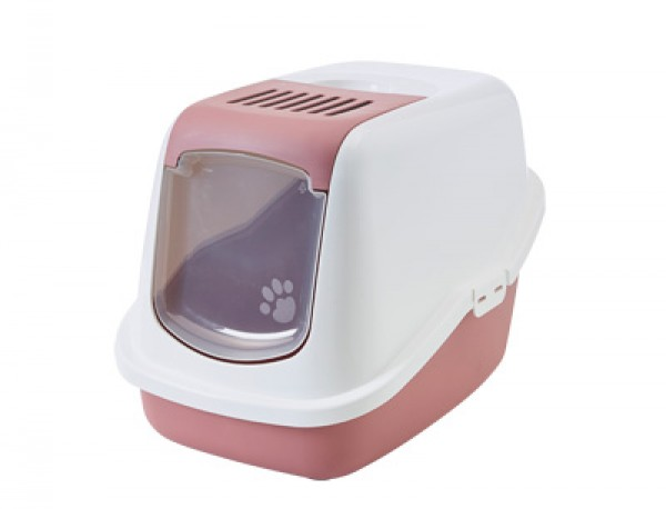 SAVIC Toalet za mace Nestor belo-roze