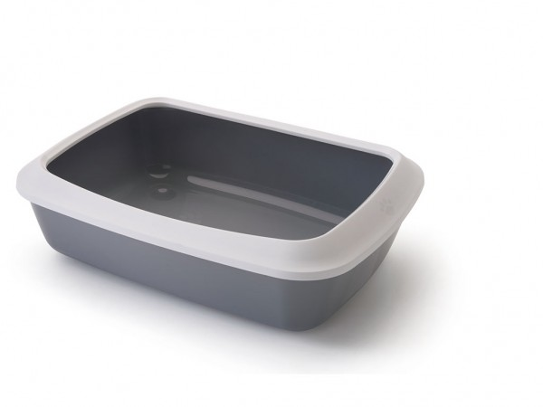 SAVIC Toalet za mace sa ramom Iriz 42cm sivi