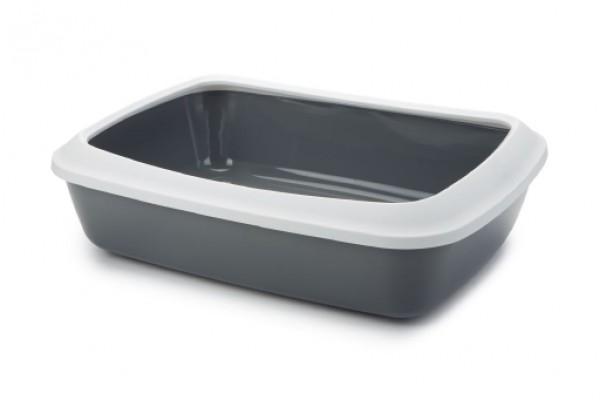 SAVIC Toalet za mace sa ramom Iriz 50cm sivi