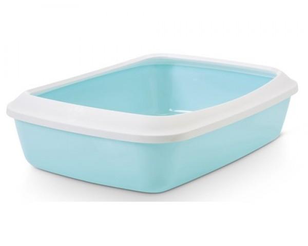 SAVIC Toalet za mace sa ramom Iriz 50cm retro plavi