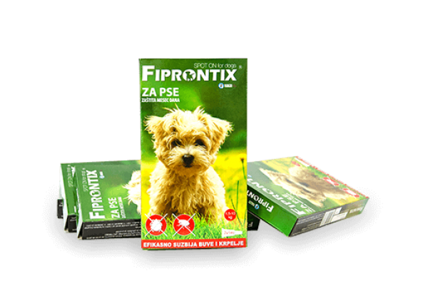Fiprontix za male pse 1,5-10kg,  7 x 1ml