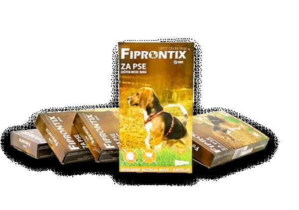 Fiprontix za srednje pse 10-20kg, 5 x 2ml