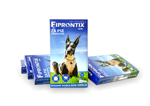 Fiprontix za velike pse 20-40kg, 5 x 4ml
