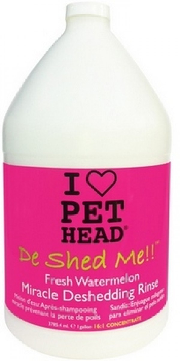 PET HEAD De Shed Me Rinse Watermeloon Shampoo 3.79l