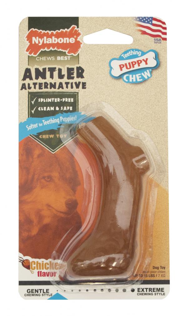 Nylabone Puppy Chew Igračka za žvakanje za štence u obliku roga XS