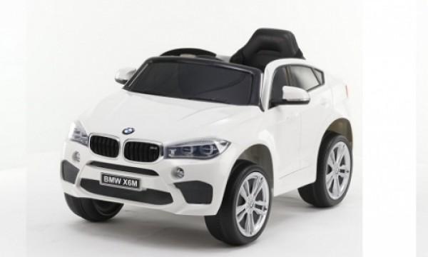 Džip (BMW X6) sa mekim EVA gumama i PU sedištem 229 beli na akumulator sa daljinskim
