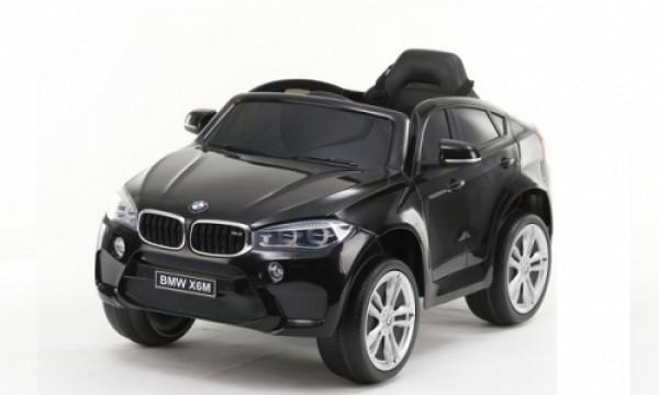 Džip (BMW X6) sa mekim EVA gumama i PU sedištem 229 crni na akumulator sa daljinskim