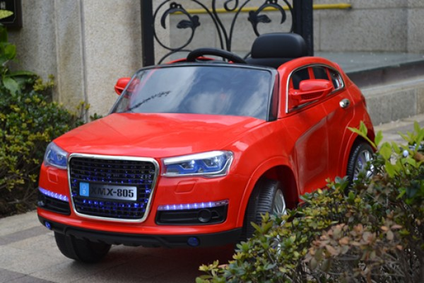 Džip za decu (Audi Q7) sa mekim EVA gumama i PU sedištem 216 crveni