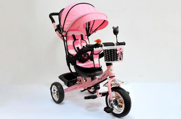 Tricikl-guralica Playtime Meridian za decu 406 roze