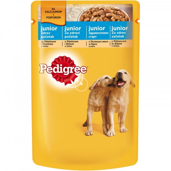 Pedigree Vlažna hrana kesica Junior piletina 100G