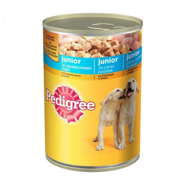 Pedigree Vlažna hrana konzerva Junior piletina 400g
